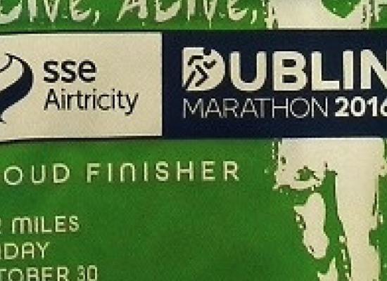 Dublin Marathon 2016 Tshirt and medal