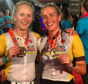 Katie and Susan Barcelona Try a Tri to Ironman