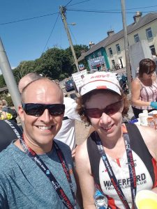 Neil Griffin and Norma Goggin at Hills of the Harbour Sprint Triathlon , Focus on Fitness